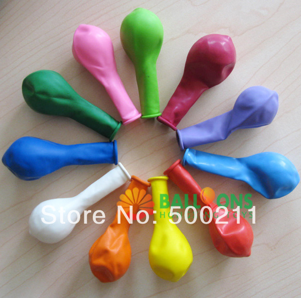 100pcs/lot China Wholesale Mini Latex Balloon 7 Inch Multi Color Party Decoration Non Latex Balloon(China (Mainland))