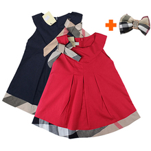 Baby Dress 2016 New Baby Girl Clothes Cotton Kids Dress Summer Baby Girl Dresses Brand Clothes Vestidos With Matching Hairband(China (Mainland))