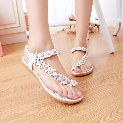 Women shoes sandals comfort flower sandals women beading 2016 new arrivals fashion shoes woman sandals<br><br>Aliexpress