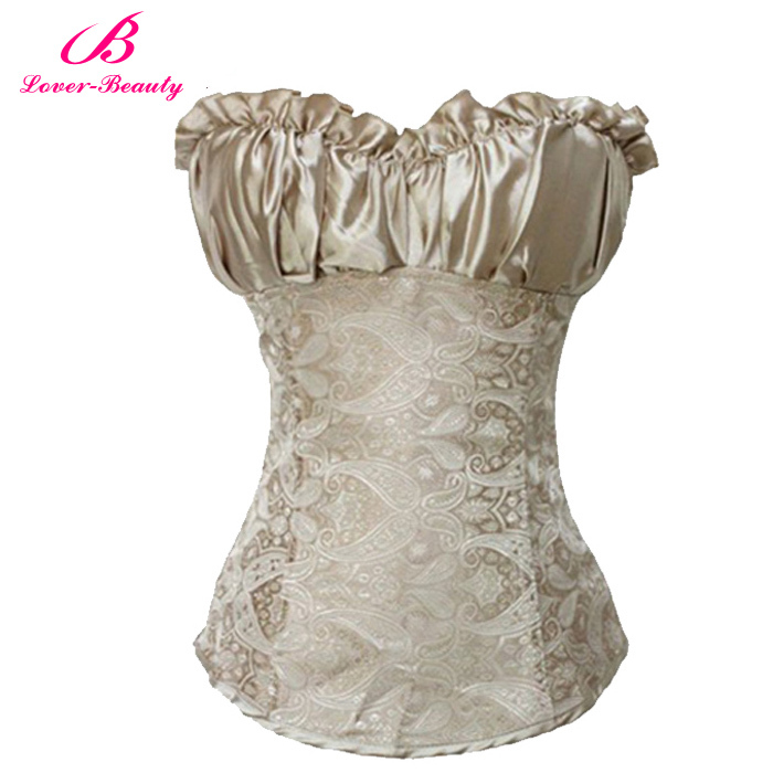 Sexy Corsets and Bustiers Black Waist Training Corset Renaissance,Lingerie Lacing Corset tops For Wedding Dress Plus Size 4XL(China (Mainland))