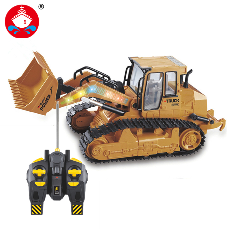 2017 new RC Truck 6CH Bulldozer Caterpillar Track Remote Control Simulation Engineering Truck Christmas Gift Construction Model(China (Mainland))