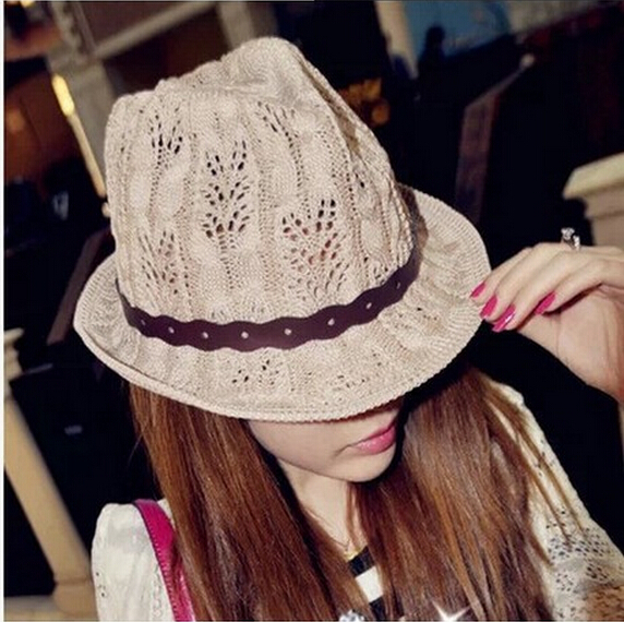 2015 Stylish Summer Bohemian Cotton Linen Women Sunhat Ladies Fedora Sun Caps Beach Girls Solid Female Casual Belt Jazz Hats(China (Mainland))
