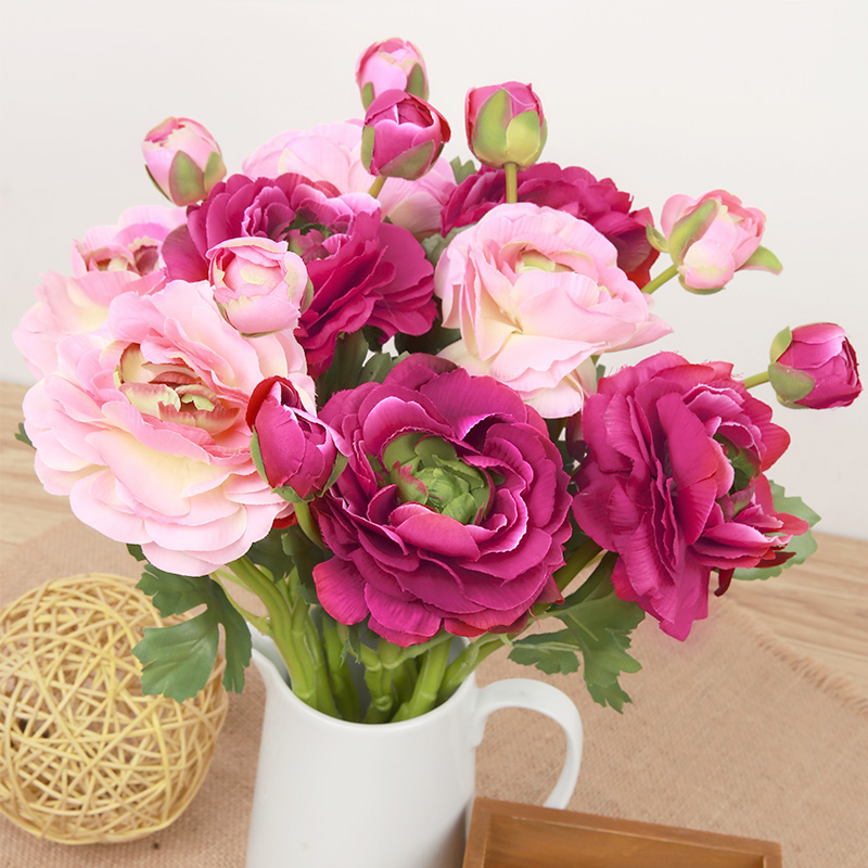9 PCS/LOT Silk Wind Tea Rose Artificial Fake Flowers Home Living room Bed Room Wedding Desktop Decoration Rose Flowers(China (Mainland))