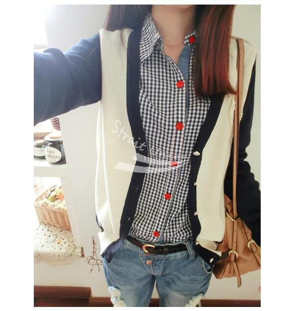 Casual Women s font b Tartan b font Plaid Check Pattern Button Down Long Sleeve Blouse