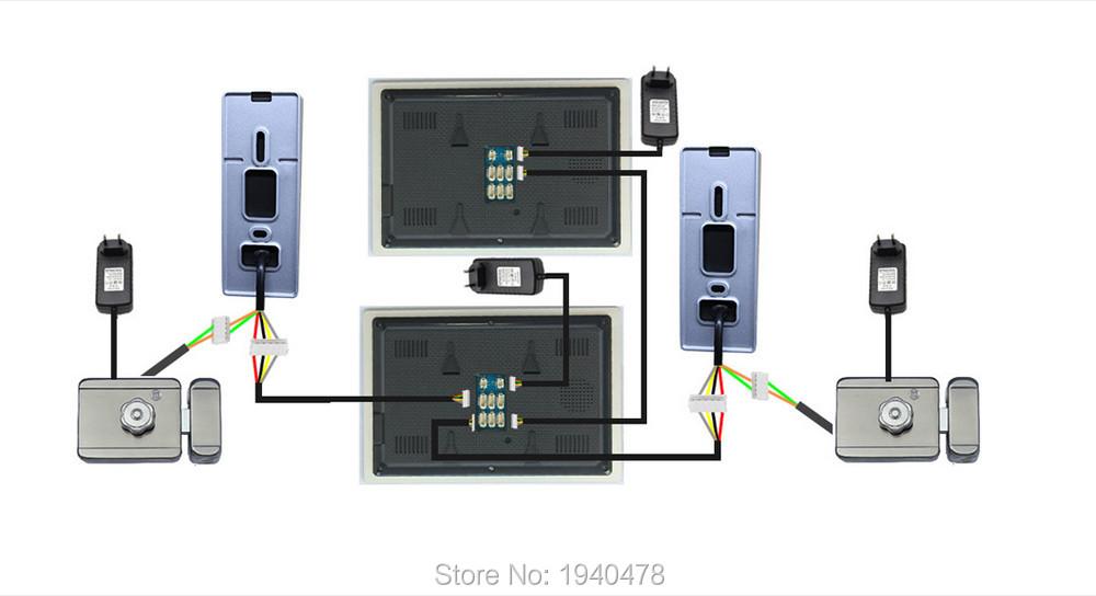 Homefong 4″ TFT Color LCD Video Door Phone Doorphone Hands Free Visual Intercom Record IR Night Vision Touch Key Rainproof