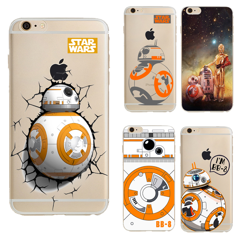 Star Wars The Force Awakens BB-8 Droid Robot For iPhone 6S Case Soft TPU Slim Fit Protective Cover for iPhone 6 6S 4.7 inch(China (Mainland))