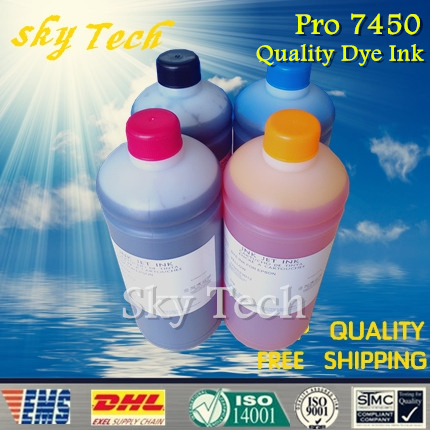 1L*4 [ Buy 4 Get 5 ,buy 7 get 9] Dye refill ink suit for Epson T6118 T6112 , suit for Epson stylus pro 7450 wide-format ink