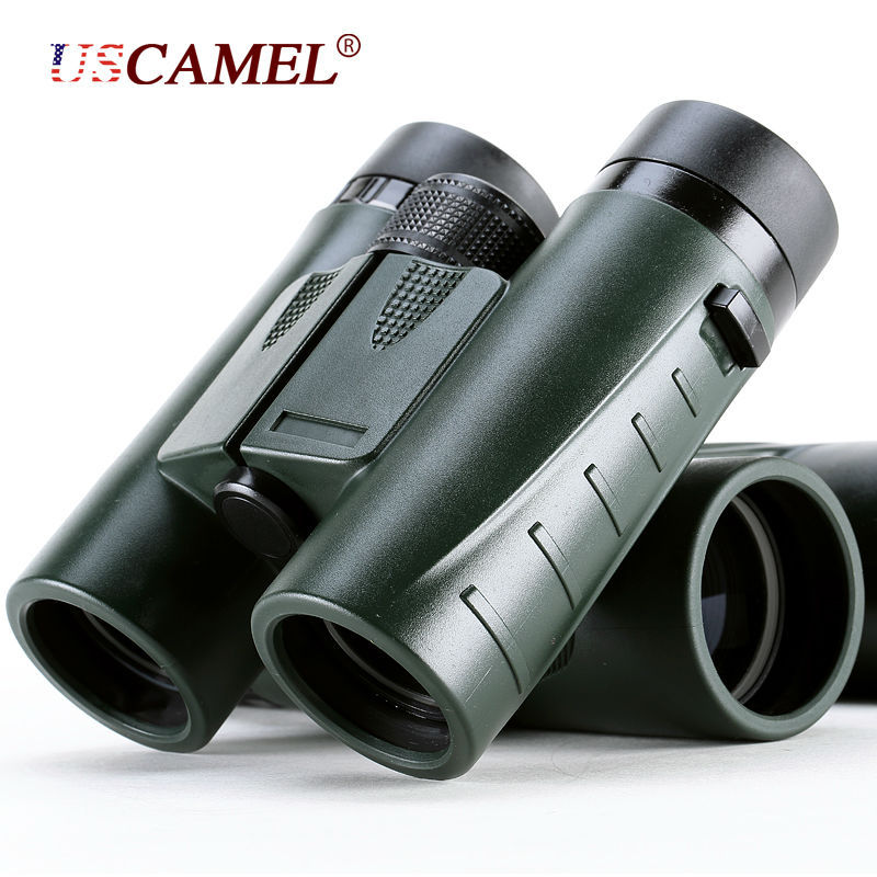 Military HD Compact Binoculars 8x32 Optics Telescope Zoom Powerful Vision Objective Lens Army Green for Hunting Sport USCAMEL(China (Mainland))