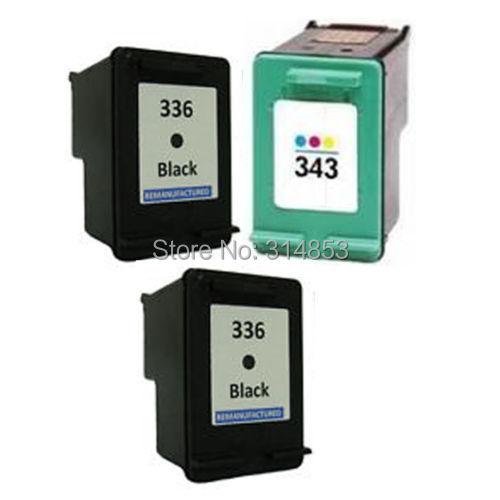 3 x ink cartouche d'encre Ink Cartridge HP336 XL Black HP343 Color imprimante Photosmart C3180 Printer - superprint Co,.Ltd store
