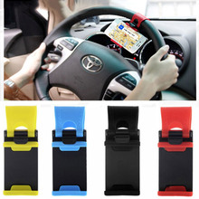 Universal Car Steering Wheel Phone Socket Holder Navigate Case Cover For iPhone Samsung S6 S4 J5 Huawei P8 Lite Xiaomi HTC Sony(China (Mainland))