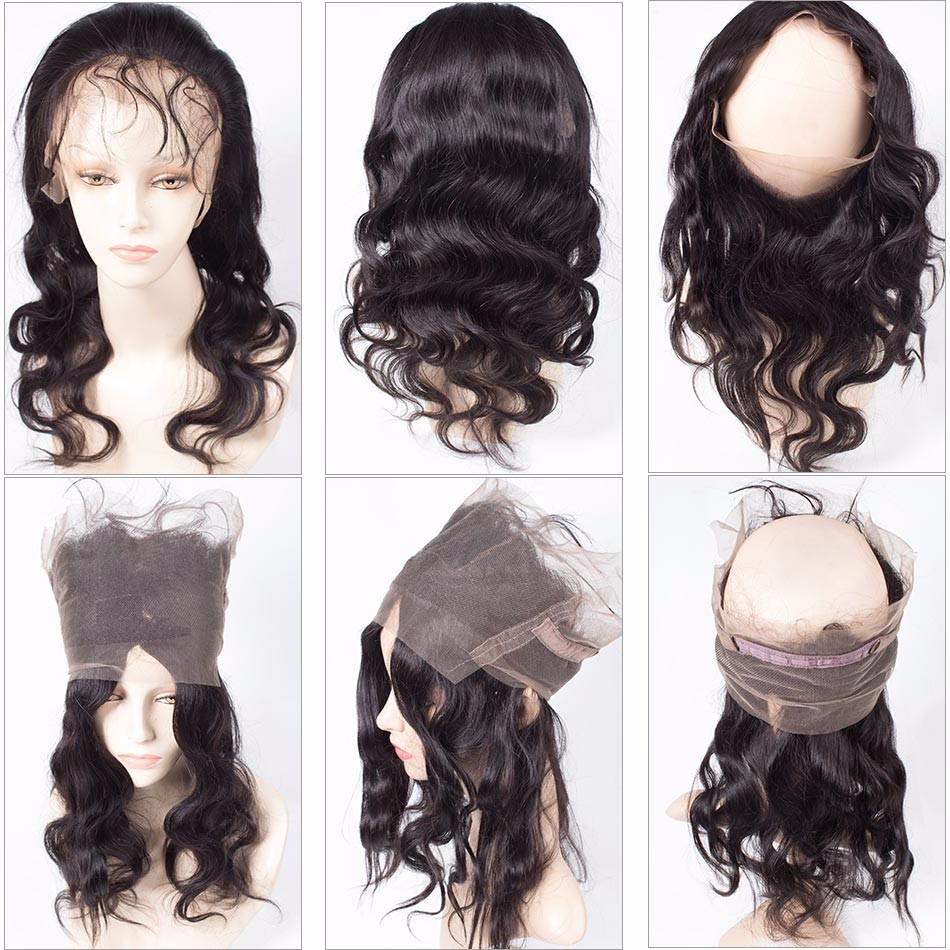 360 Lace Frontal Closure Body Wave Peruvian Virgin Hair Lace Closure Annabelle Hair 360 Lace Frontal Closure With Baby hair