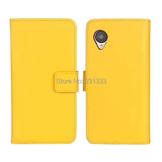 Genunie Plain Leather Wallet credit card stand Pouch holder purse For LG Google Nexus 5 E980 D820 D821 holster case luxury 20pcs