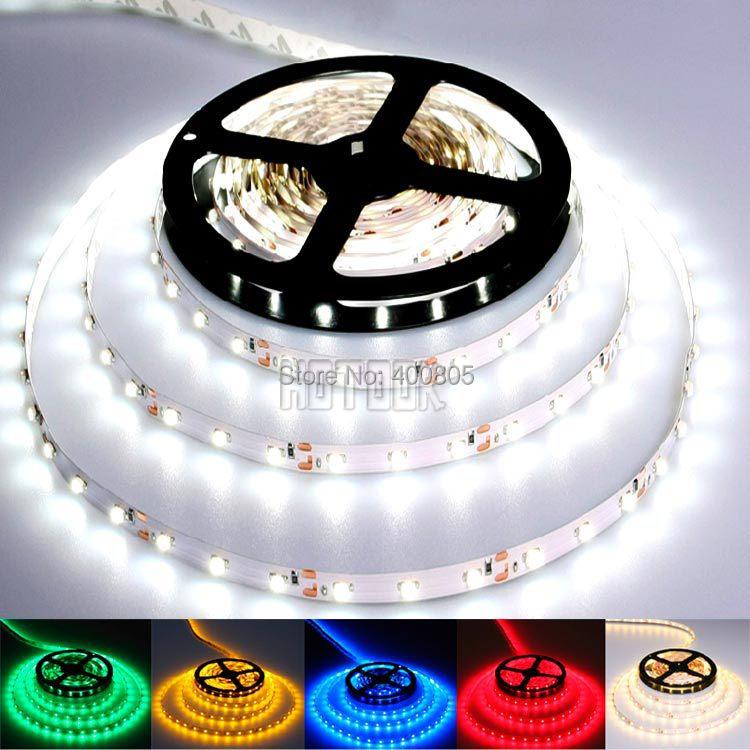 3528 led strip light 300leds 12V led tape 5m 60leds/m non-waterproof ribbon neon ruban White/Warm White/Red/Green/Blue/Yellow(China (Mainland))
