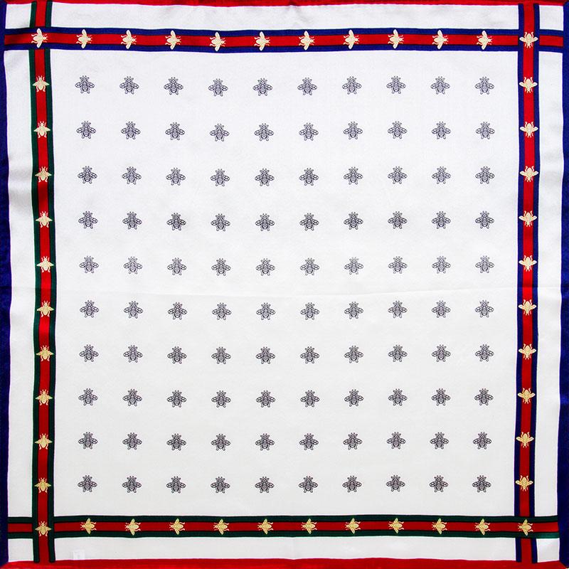 100% Silk Scarf Women Scarf Bees Neckerchief Scarf Silk Bandana Handkerchief 2016 Headband Mini Square Silk Scarf Luxury Gift(China (Mainland))