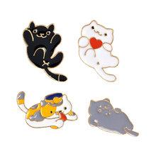 Animale bello set Spilli Colorato Dinosauro Pigro gatto cane Carino Totoro Risvolto dello smalto Spille Spille Coppia di volpe coniglio Distintivi e Simboli Gioielli regalo(China)