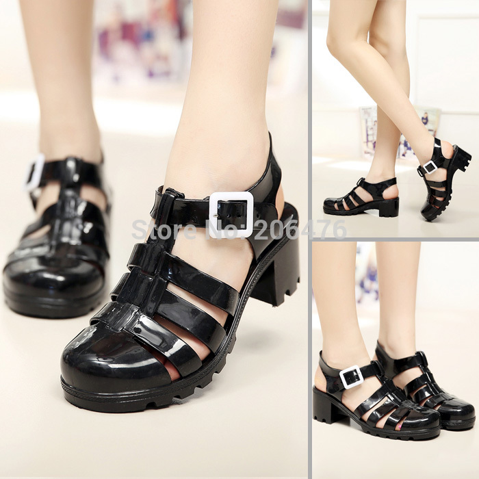 2015 Vintage Style women sandals T shoes with Rome beach jelly shoes<br><br>Aliexpress