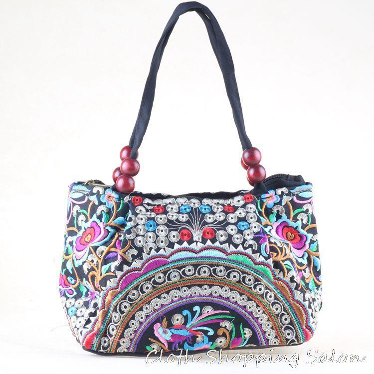 New National Ethnic Embroidery Bags Handmade Peony