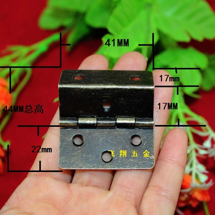 41*44MM Antique Hinge 3 equivalent page Right Angle Hinge Wooden wooden hinges Grips connecting piece 6 hole hinge Wholesale(China (Mainland))