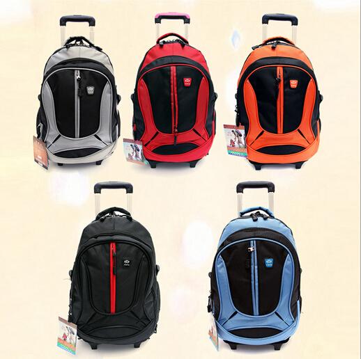 2015 Hot wheeled children school bags orthopedic backpack kids trolley mochila boys girls Hand sliding bag &80016 - Top Selling Best Store store