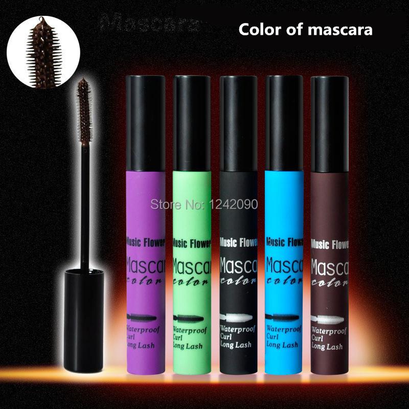 brand full size mascara blue Volume Express Makeup rimel 5 colors cosmetics eyes maquiagens - 200% CO.,LTD. store