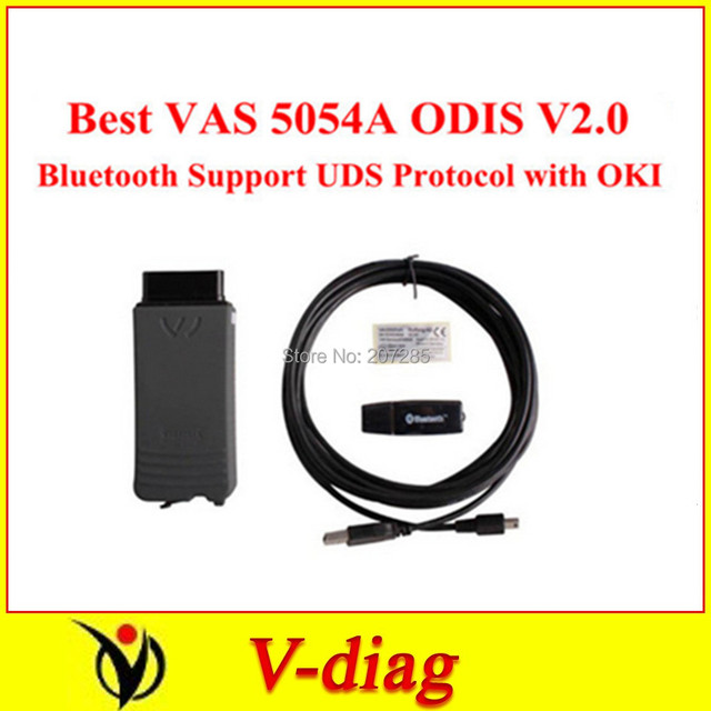 Best VAS 5054A ODIS V2.0 Bluetooth Support UDS Protocol with OKI full Chip Free Shipping