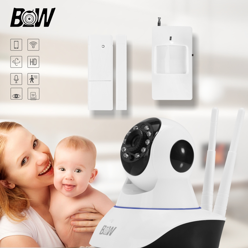 BW Rfid 1280*720P MegaPixel Lens Filter Wireless Wifi IR-Cut Night Vision Mini IP Camera Automatic Alarm Systems Security Home<br><br>Aliexpress