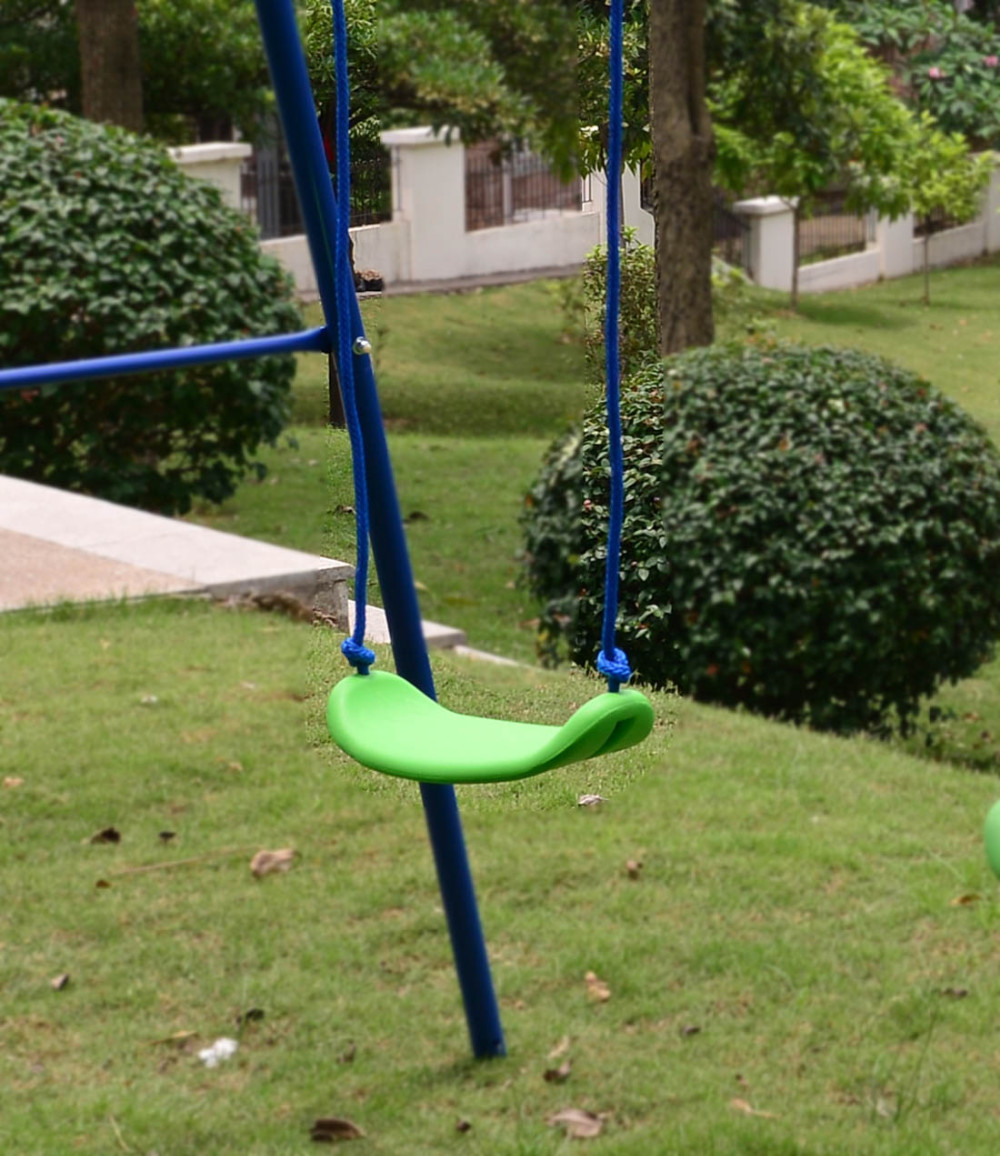 best deals hlc outdoor childrens folding swing set with 2 ba