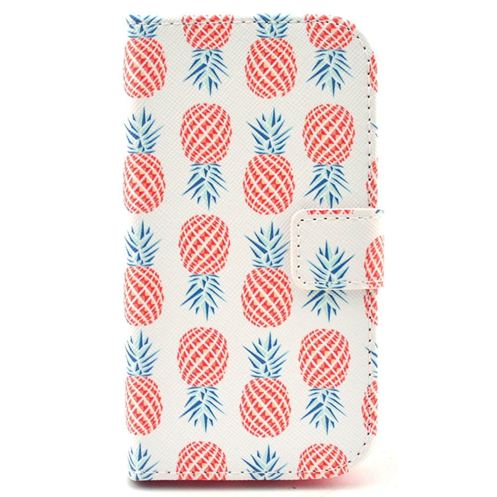 Pine Pattern PU Leather Wallet Case for Samsung Galaxy Core Plus G350(China (Mainland))