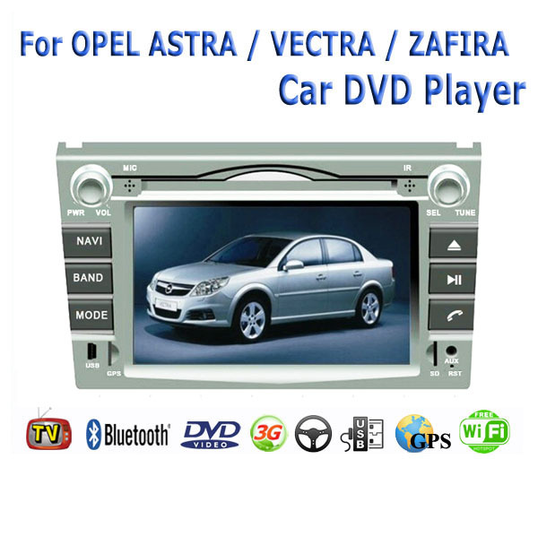 2 Din Fit Opel ASTRA VECTRA ZAFIRA Car DVD Player GPS TV 3G Radio WiFi Bluetooth(China (Mainland))