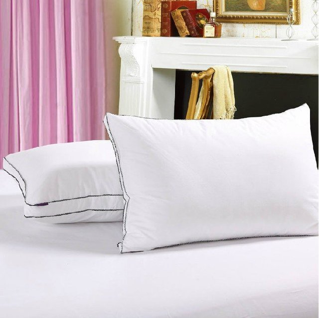 Free shipping,Hot sale high quality stereo feather velvet pillow,100% cotton material comfortable bed