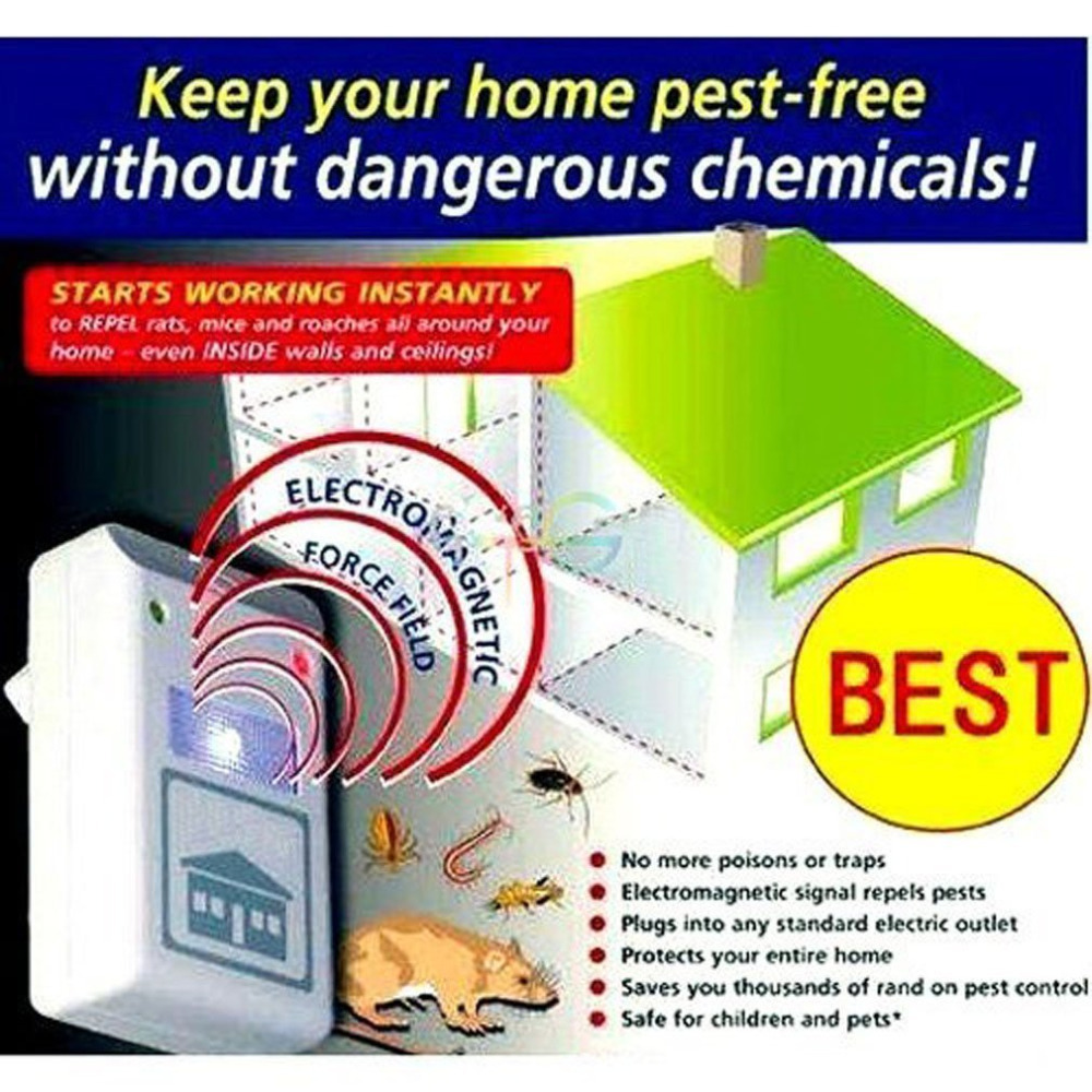 US Plug Electronic Ultrasonic Mouse insect Roach Ant Spider Flea Repellent Mosquito Cockroach Repeller Rodent Pest Bug(China (Mainland))