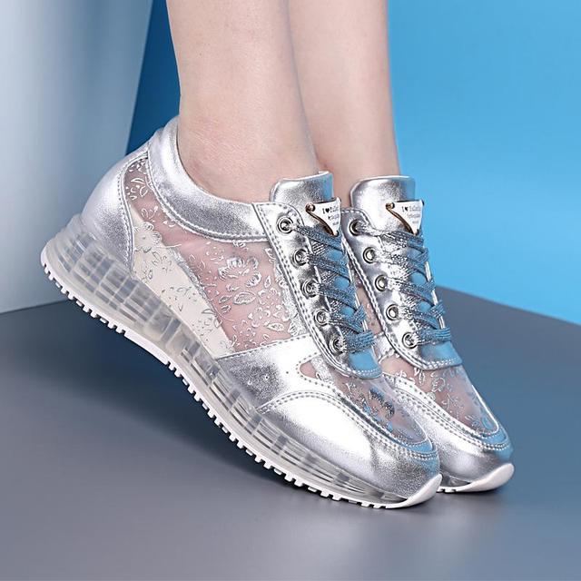 Новый летний женская свободного покроя обувь кат-аутов дышащей обуви на платформе ...