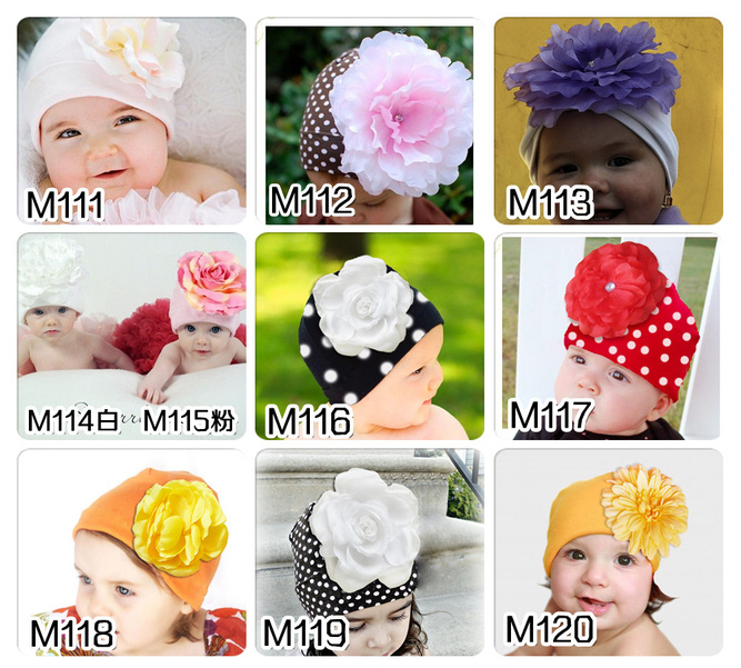 Baby winter hat newborn photography props pink flower kids clothes accessories dot design crochet caps - Sky Trade Co., Ltd. store