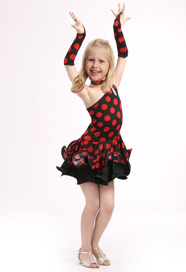 Latin Dance Dress For Girls Samba Dress Ballroom Dancing Dress Girl Dancewear Ballet Vestido Baile Latino