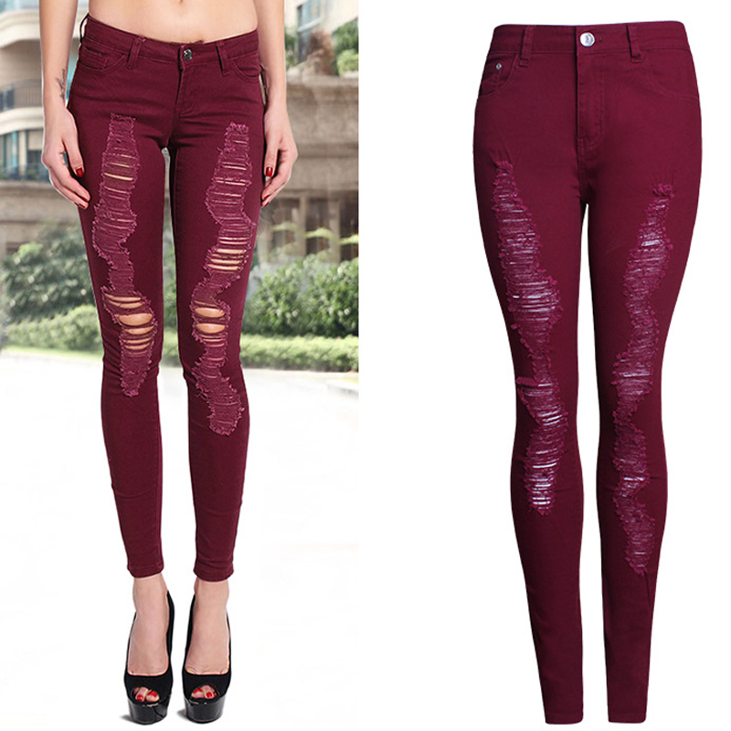 High Quality Skinny Jeans Red-Buy Cheap Skinny Jeans Red lots from ...