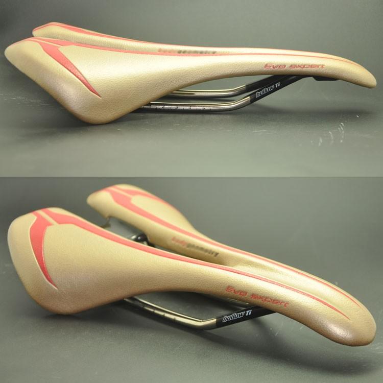 2016 Original syun gold color high-end super-light Titanium rail comfort MTB road bike bicycle saddle(China (Mainland))