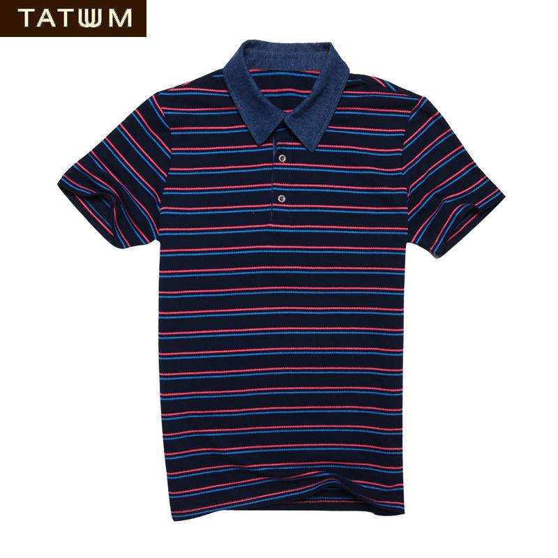 TATUUM brand mens poloshirt Cotton striped men polo shirt sh