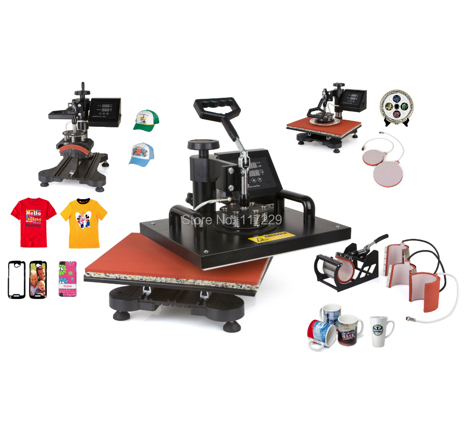 Advanced new design 6 in 1 sublimation machine digital for Machine for printing on t shirts