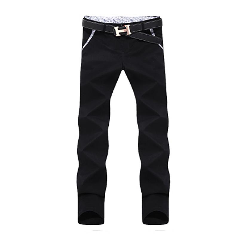2016 Hot Selling Men Pant Fashion Korean Style Slim Fit Mens Khaki Pants Designer Mid-Rise Casual Men Chinos Trousers(China (Mainland))
