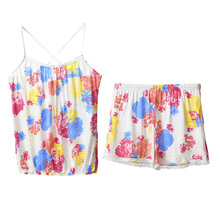 Summer new sexy song Riel camisole shorts suit tracksuit cute pajamas women Ling Feng Ying ying