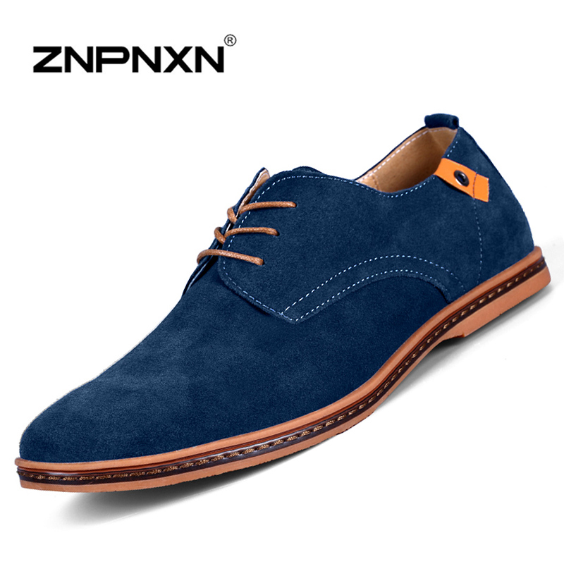 2015 New Handmade Genuine Leather Men Shoes Summer Flat Casual Shoes Original Brand Men Oxford Shoes 7 Colors Plus Size 38-48(China (Mainland))