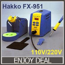 Hot!! Frei versand führen- kostenlos 220v/110v digitale esd hakko fx-951 lötstation hakko fx-951 rework-system mit 1pc von t12 lötspitze(China (Mainland))