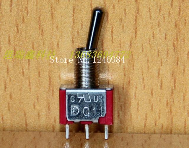 [SA]T8013 single tripod two tranches M6.35 small toggle switch Q11 Taiwan Dailywell Deli Wei 1MS1--100PCS/LOT<br><br>Aliexpress