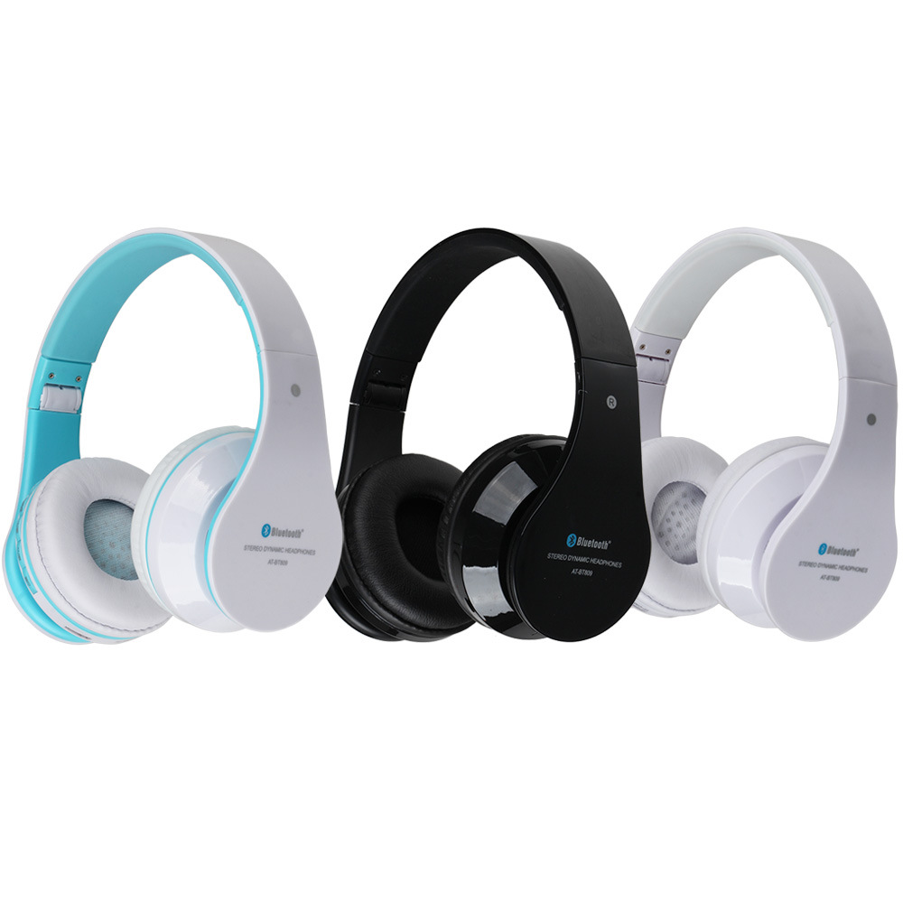 Manufacturers selling AT-BT809 platform hot head wear type heavy bass HIFI Bluetooth stereo headset(China (Mainland))