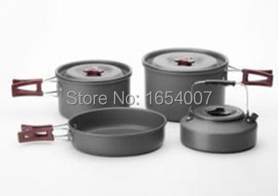 Фотография Fire Maple 4-5 Persons Outdoor Team Pot Set (Frying Pan+Cauldron+Medium Pot+Tea Pot) Portable Outdoor Camping Tablewares FMC-209