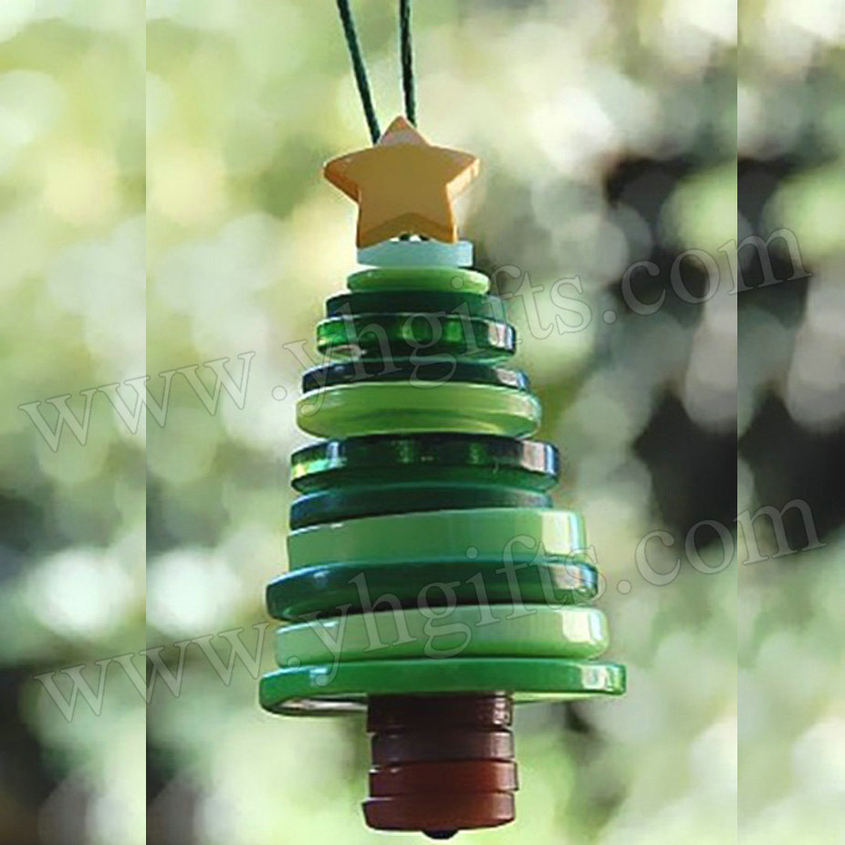 15PCS/LOT.Button tree craft kits,Button crafts,Christmas tree ornaments,X'mas gifts,Christmas crafts.Promotion.Cheap.2x4.5cm(China (Mainland))