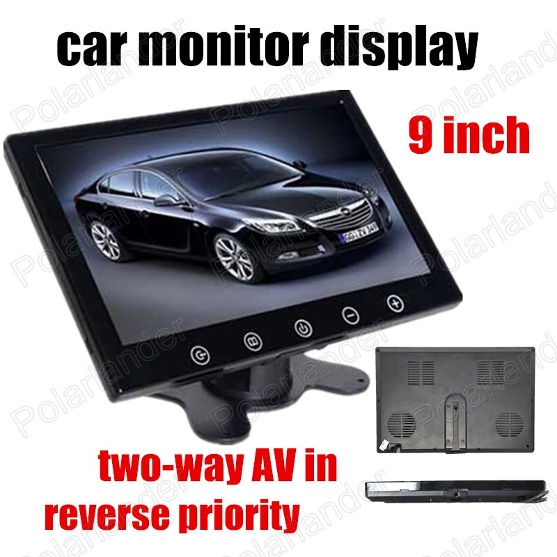 9 inch headrest car Monitor two-way AV in For rear view camera reverse priority TFT LCD car monitor display<br><br>Aliexpress