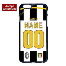 Juventus Jersey Custom Your Name Number Cover Case for iPhone 4 4S 5 5S 5C 6 6S 7 Plus(China (Mainland))