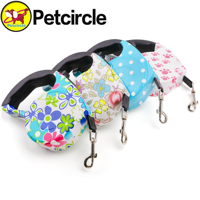 petcircle on sale pet dog leash big dog leash durable dog leash for chihuahua retractable dog leash 5cm 4 colors free shipping(China (Mainland))