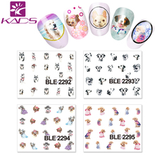 HOTSALE CZ039  Design Tip Nail Art Sticker Creative The White and Red Star Nail Art Water Stickers Beauty Nail Salon For Girls